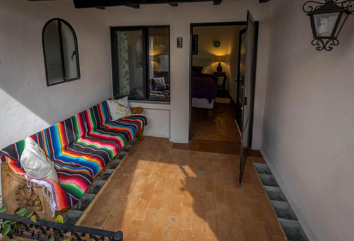 Sala privada en el balcón